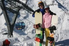 Mari ja minä Sportgasteinin huipulla