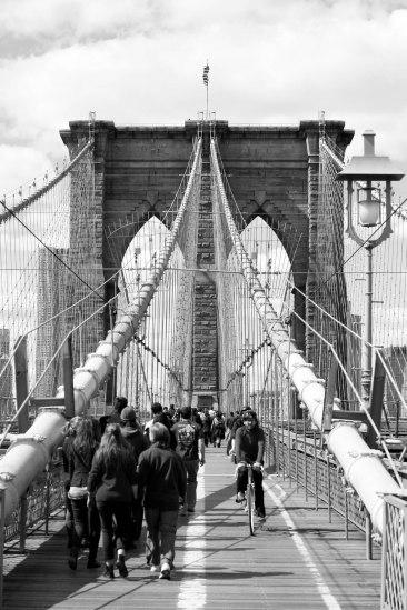 Sidewalk at Brooklyn bridge