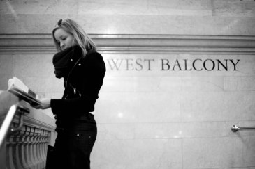Tourist at Grand Central Station