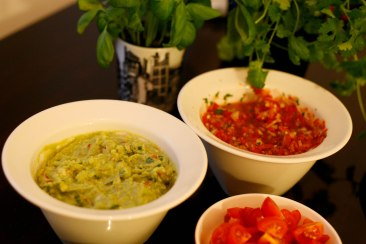 Ready salsa and guacamole