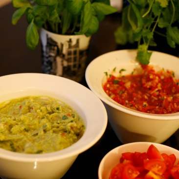 Ready salsa and guacamole
