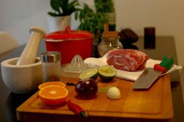 Over cooked pork ingredients